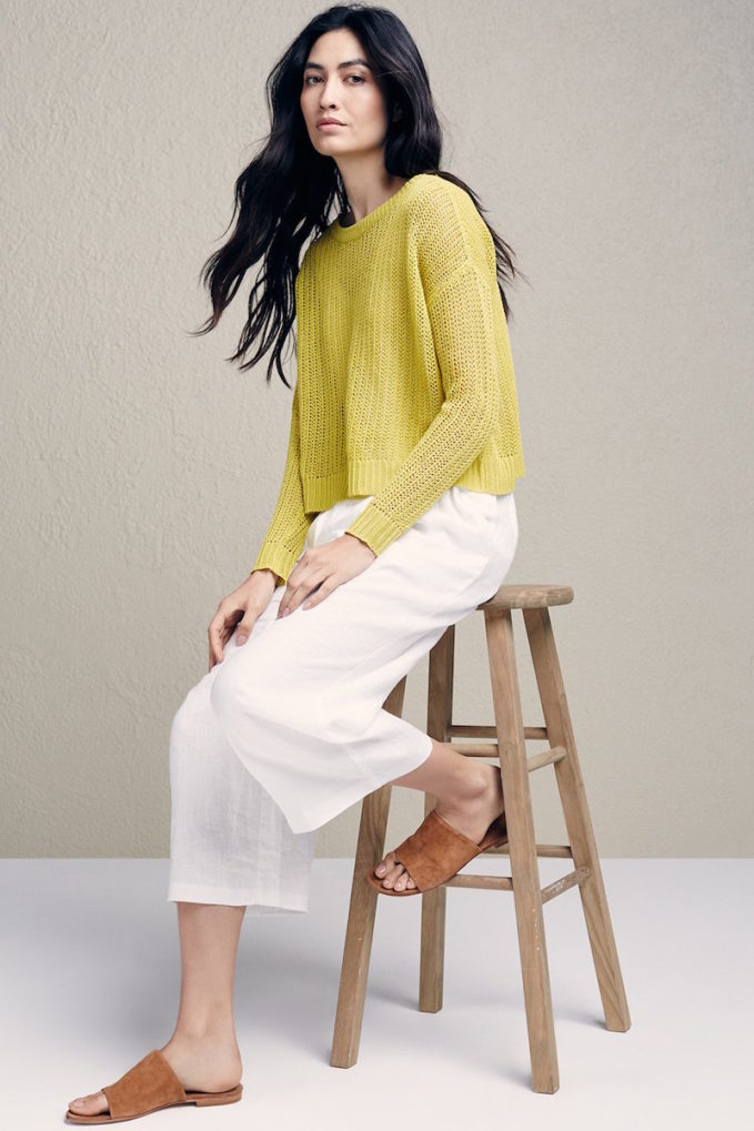Summer Trends How To Layer Linen With Eileen Fisher Nawo