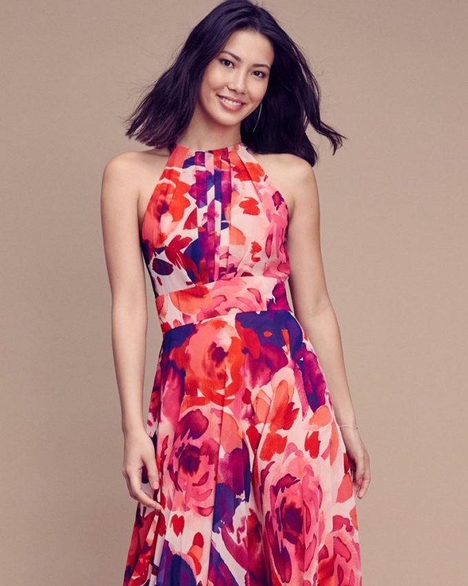 614ed7d97fb eliza j floral print halter maxi dress