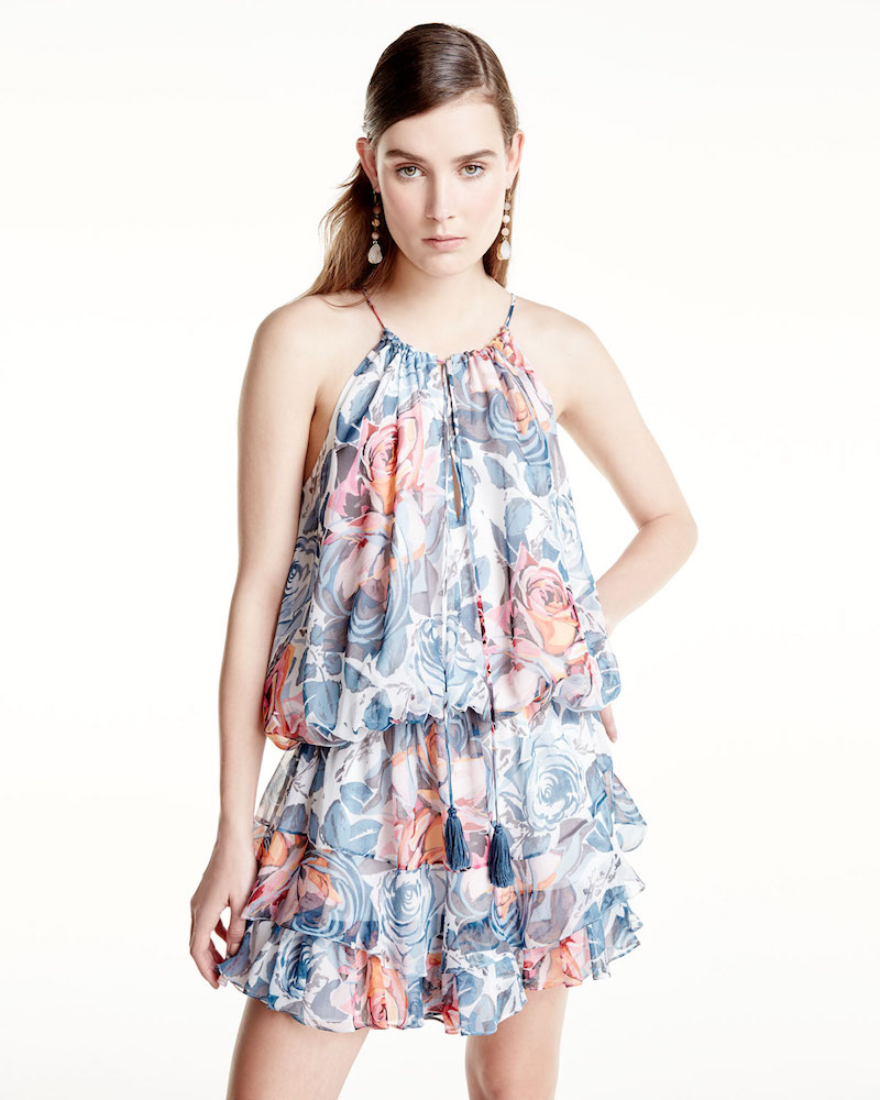 Elizabeth and James Kenji Sleeveless Floral-Print Dress
