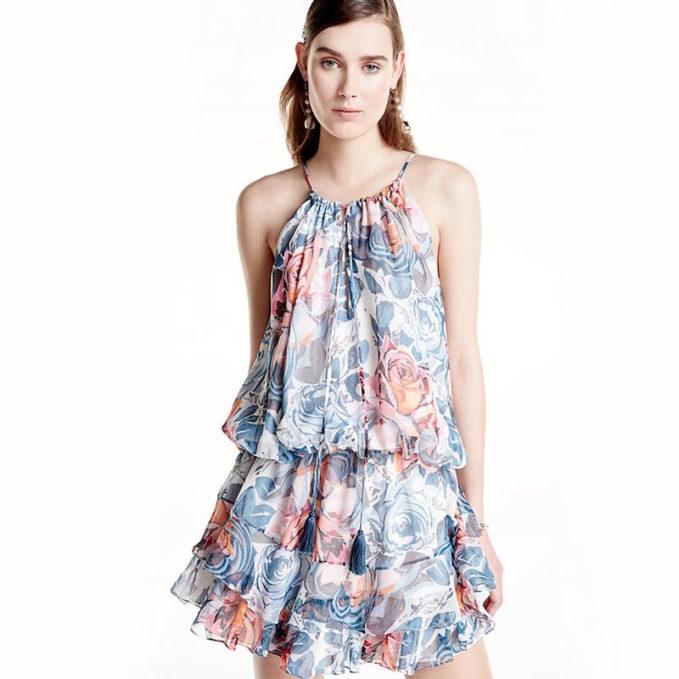 Elizabeth and James Kenji Sleeveless Floral-Print Dress_1