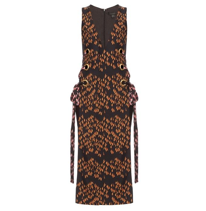 Ellery Utopian lace-up sleeveless silk-twill dress