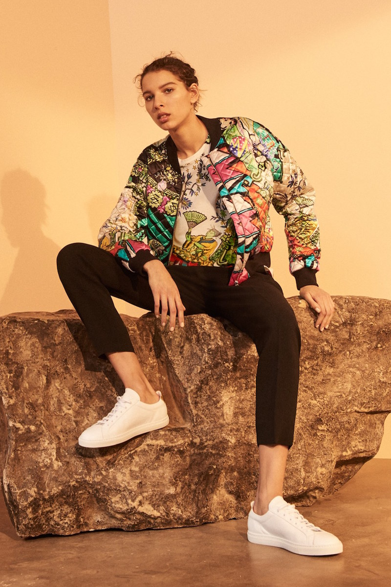 Etro Arcade Print Quilted Silk Bomber Jacket