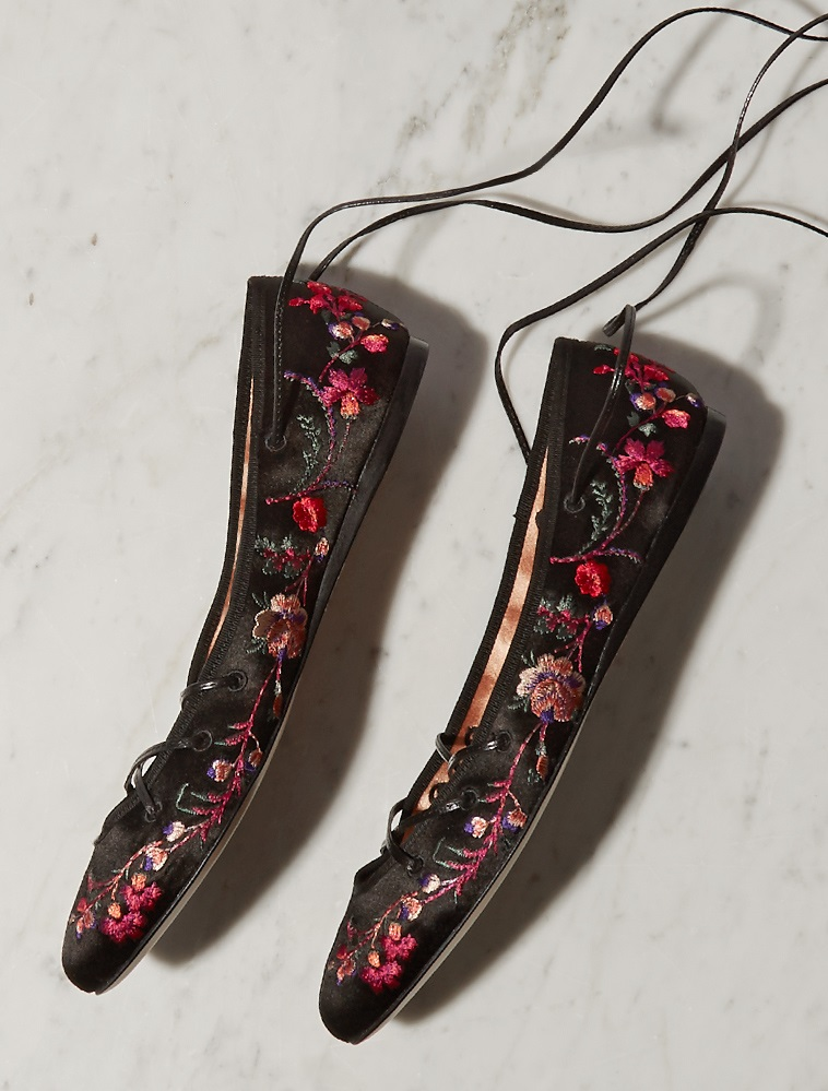 Etro Cora embroidered satin pumps