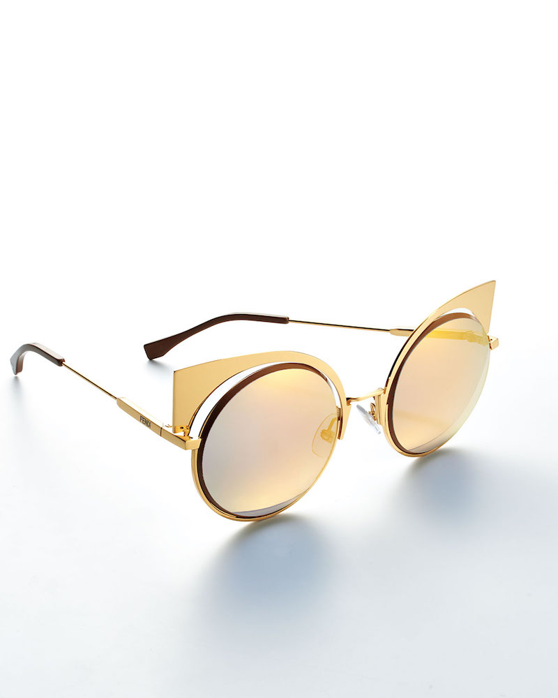 Fendi Runway Mirrored Cutout Sunglasses