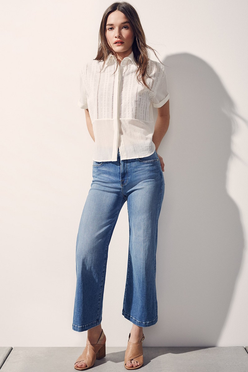 Frame Le Capri High Rise Crop Jeans