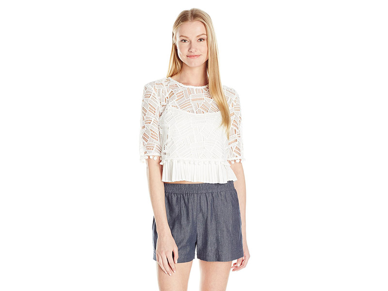 French Connection Freddy Lace Top