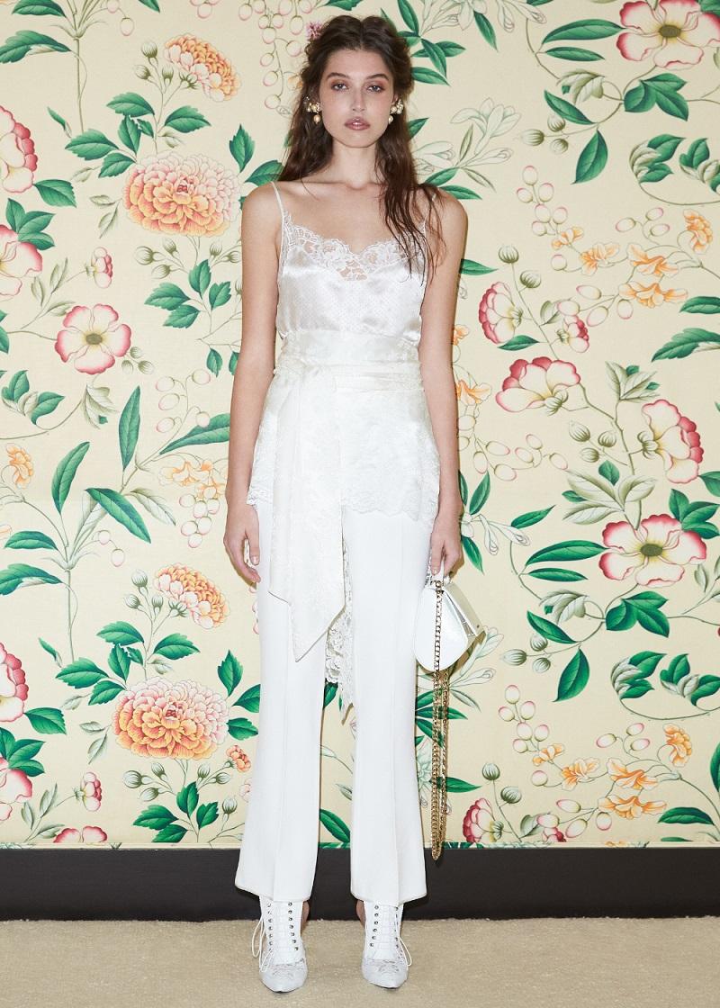 Givenchy Jacquard Satin Drape Back Camisole