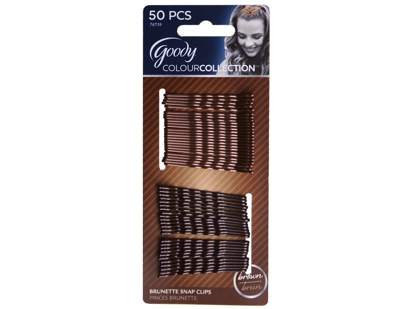 Goody Colour Collection Metallic Finish Bobby Pin, Brunette