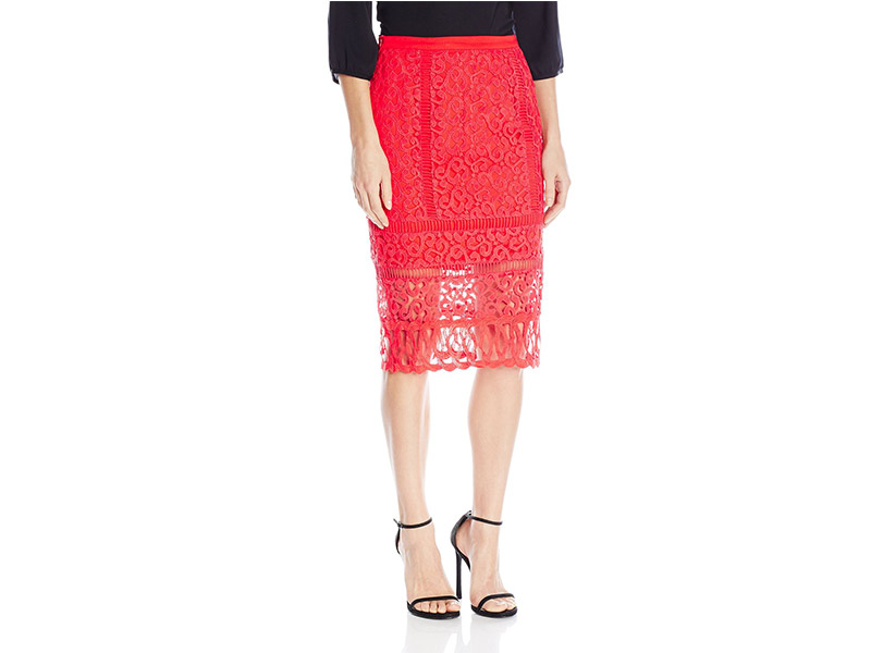 Greylin Melrose Lace Pencil Skirt