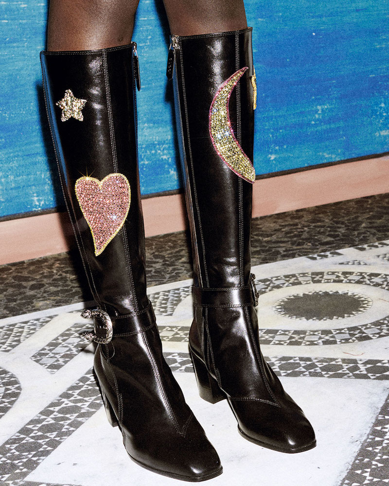 e747ba13c73 Shop Gucci Pre-Fall 2016 Shoes Collection at Neiman Marcus. Gucci Dionysus  Embroidered Knee Boot