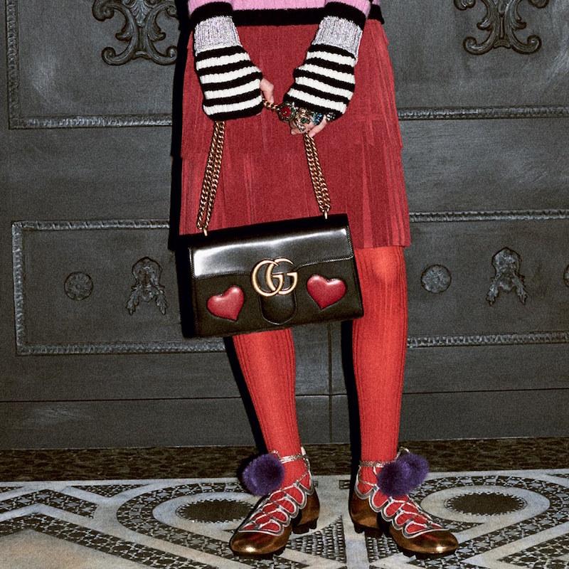 Gucci GG Marmont Medium Heart Shoulder Bag
