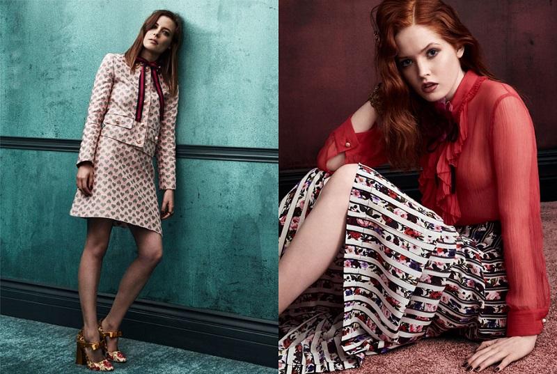 Gucci Ruffled crinkled silk-chiffon blouse