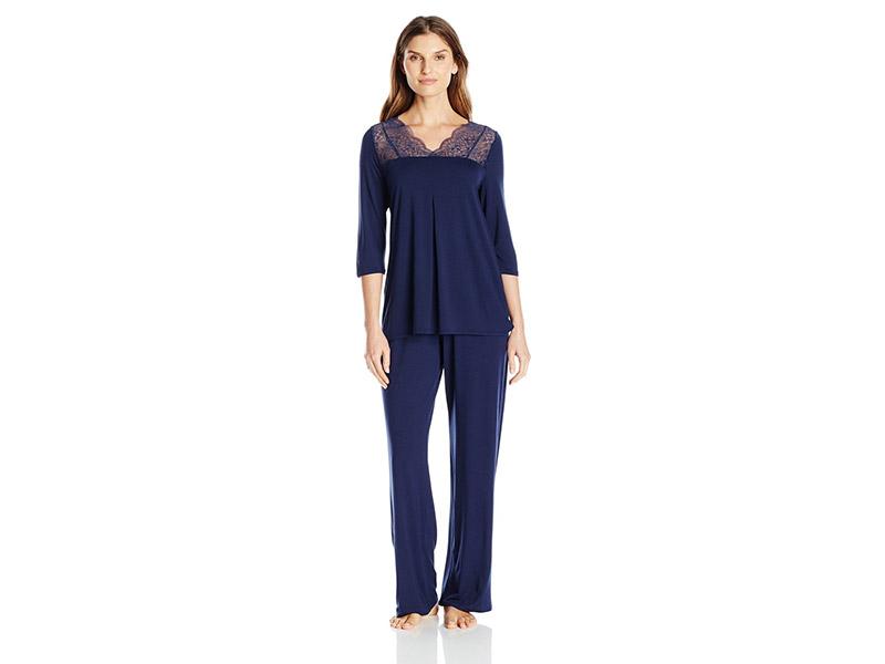 Hanro Noelia 3/4 Sleeve Pajama Set