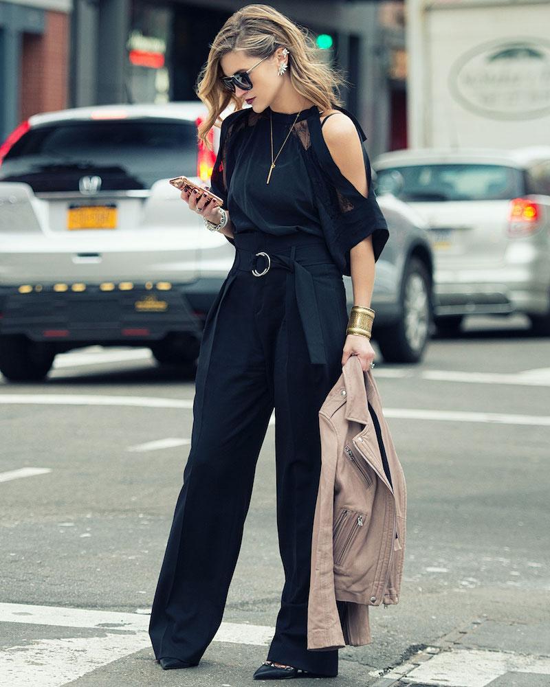 IRO Ilia Paperbag-Waist Wide-Leg Pants