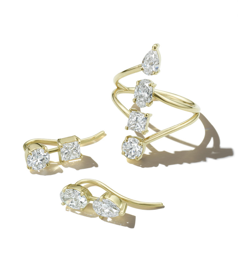 Ileana Makri Diamond End Ring