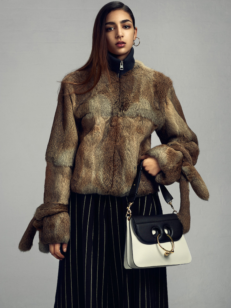 J.W. Anderson Cuff-detail High-neck Fur Jacket