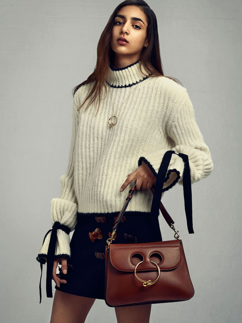 J.W. Anderson Pierce Medium Leather Shoulder Bag