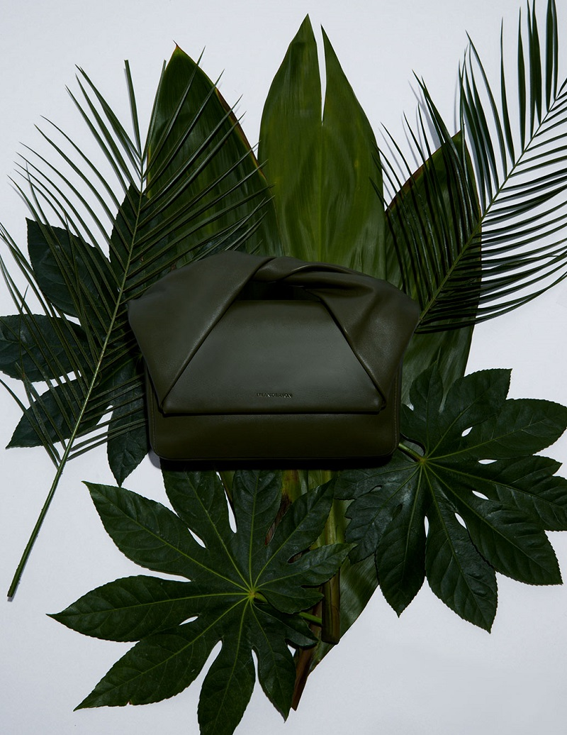 J.W. Anderson Twist leather clutch