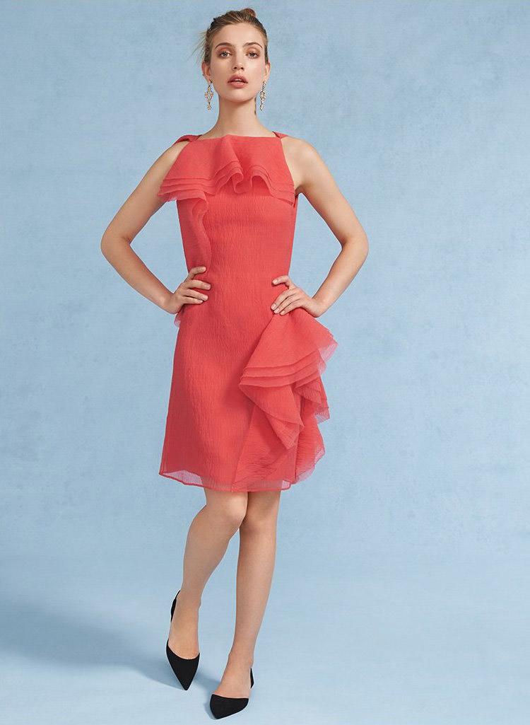 Jason Wu Asymmetrical Ruffle Dress