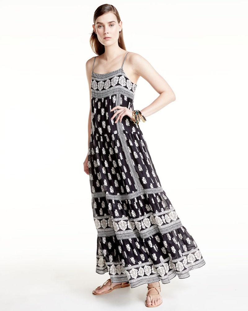 Joie Knightly Printed Cotton Silk Maxi Dress