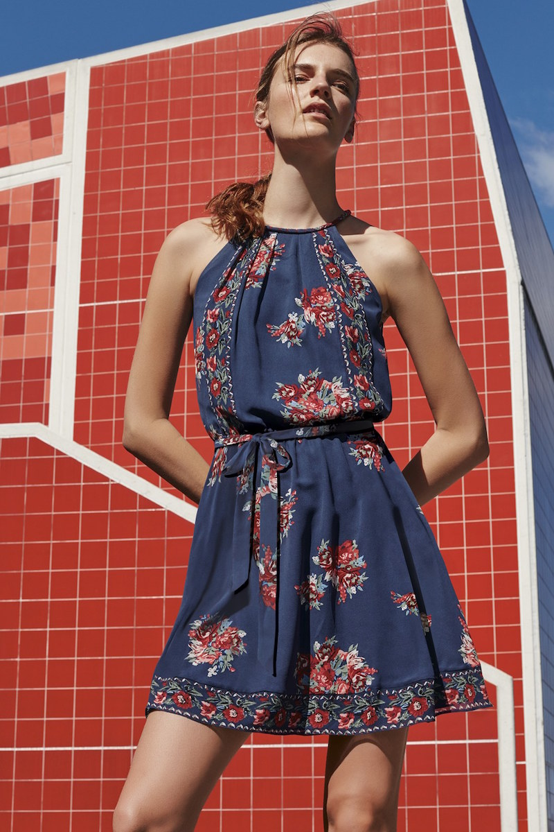 Joie Valletta Floral Print Silk Dress
