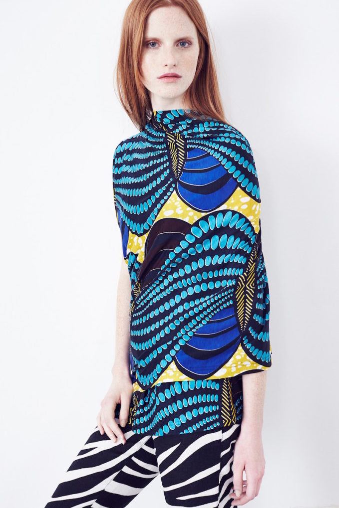 Junya Watanabe Print Asymmetrical Jersey Tunic