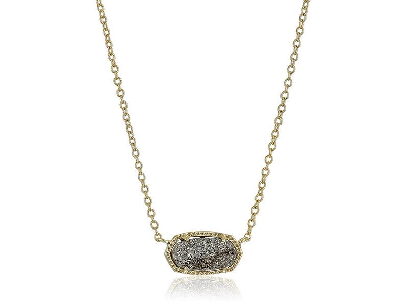 Kendra Scott Signature Elisa Gold Platinum Drusy Color Pendant Necklace