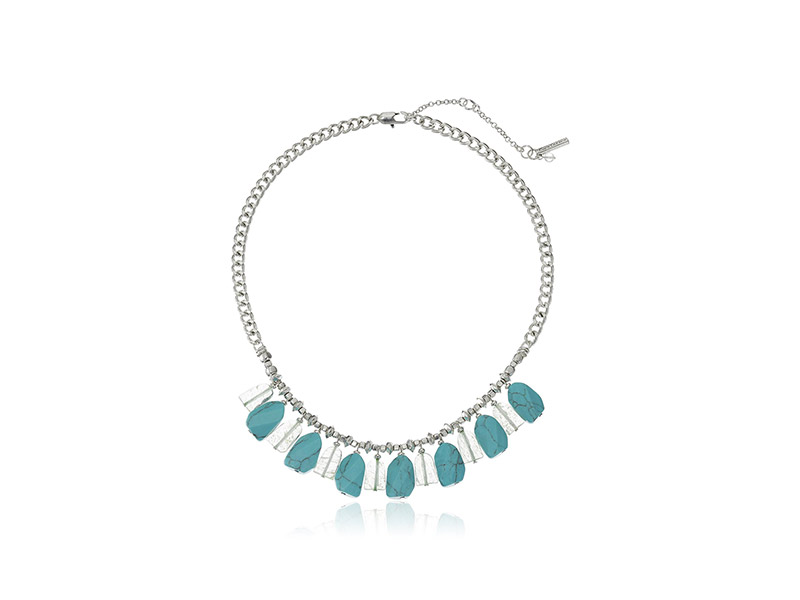 Kenneth Cole New York Poolside Turquoise Shaky Semiprecious Turquoise Faceted Stone Necklace