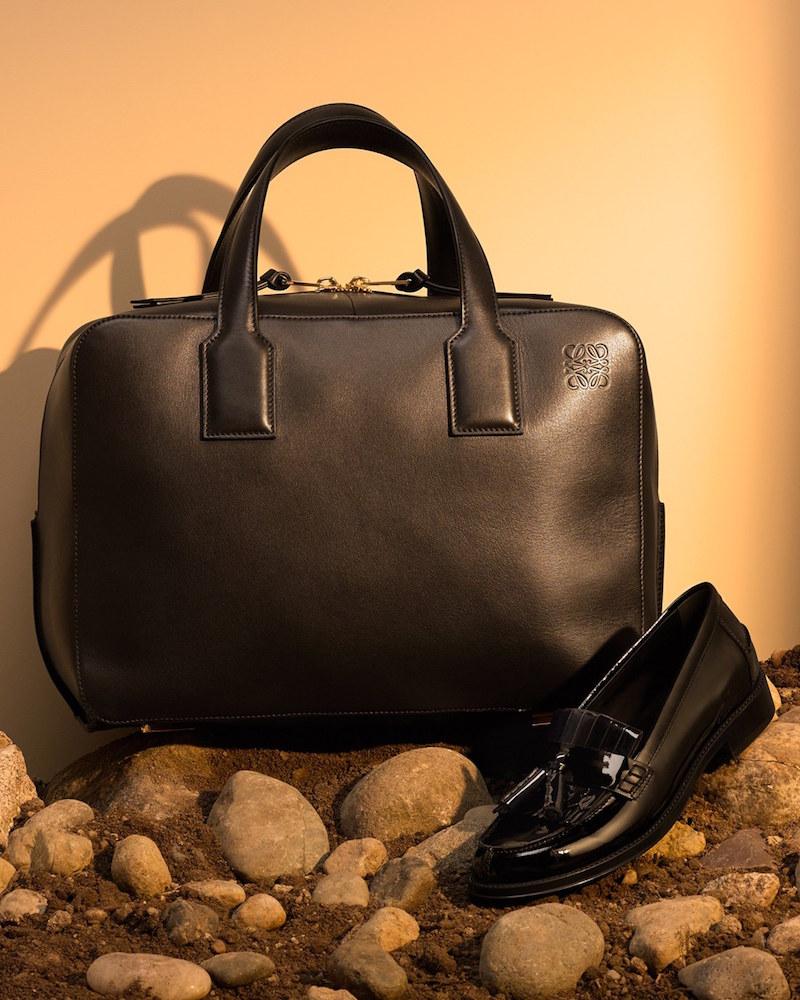 LOEWE Goya Calfskin Leather Satchel