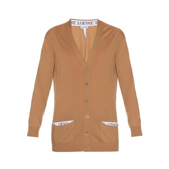 Loewe Button-down wool-knit cardigan