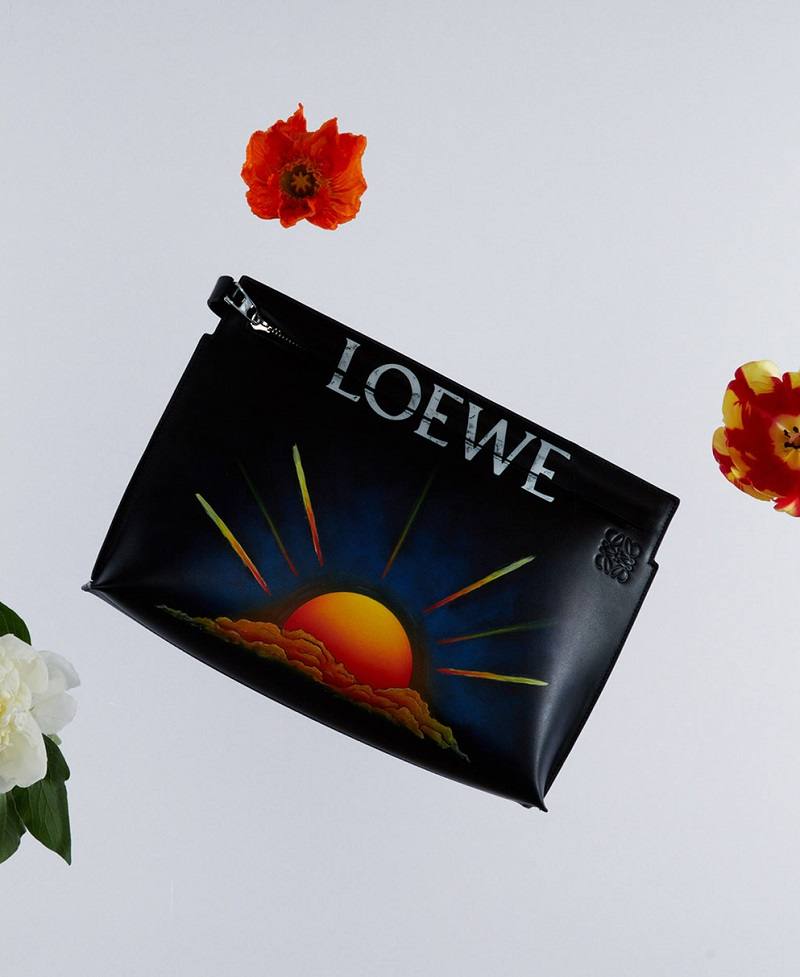 Loewe Sunset leather T pouch