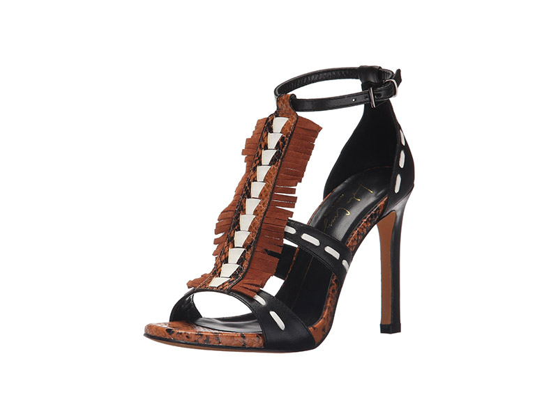 Lola Cruz High Heel Fringe Sandal