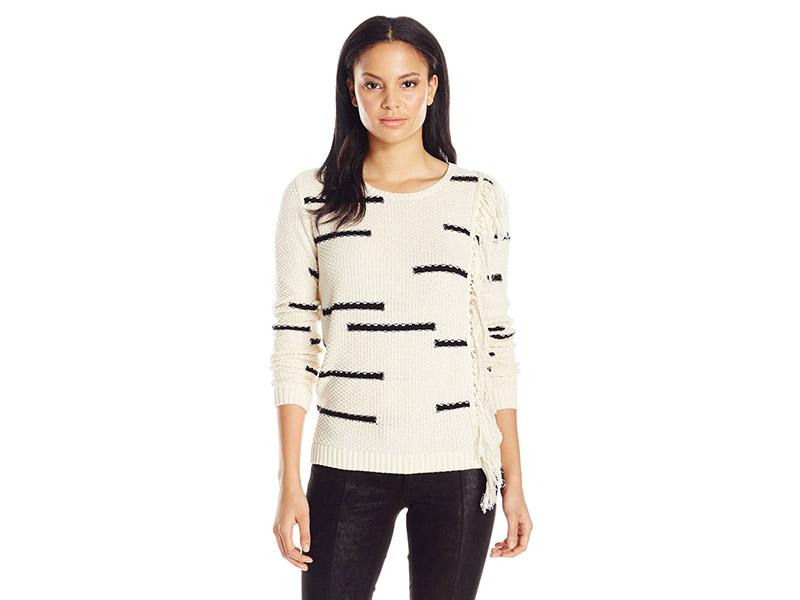 Lucky Brand Fringe Pullover Sweater
