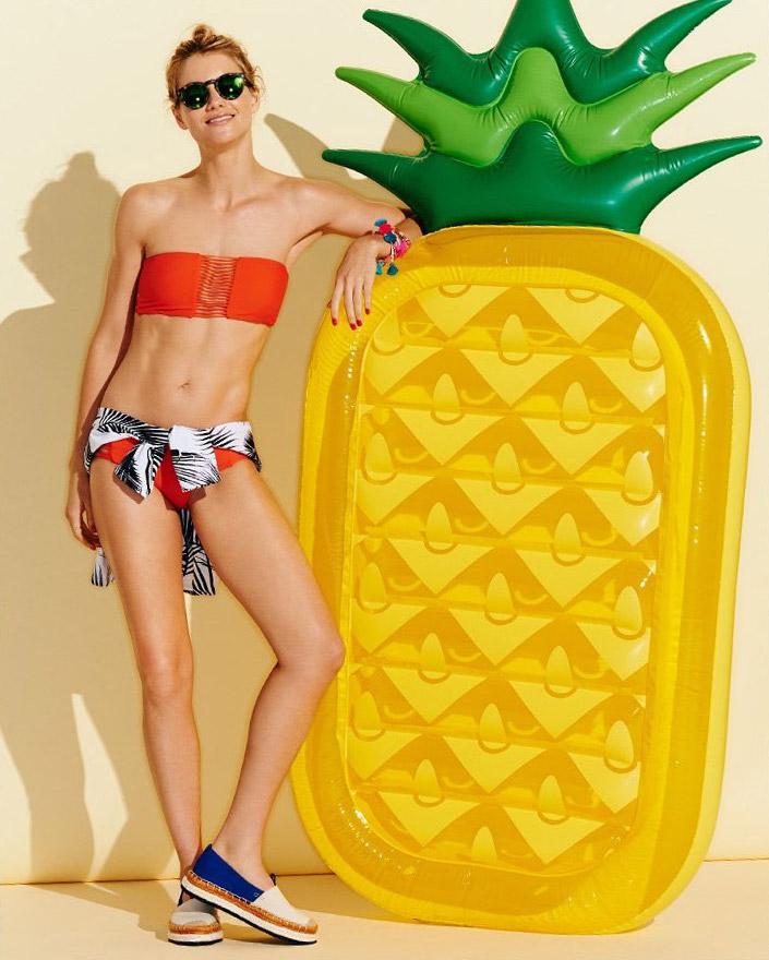MIKOH Sunset Skinny Bikini Top