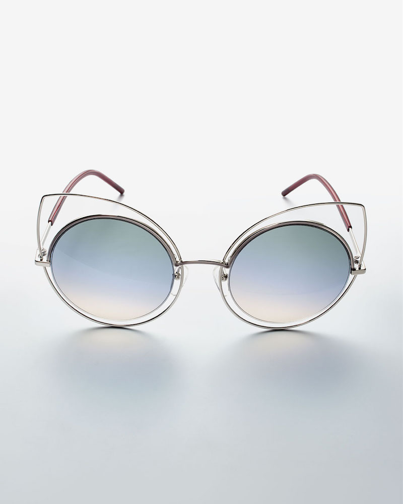 Marc Jacobs Exaggerated Metal Cat-Eye Sunglasses