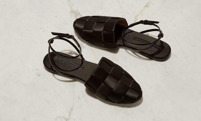 Marco De Vincenzo Woven-satin flat sandals -