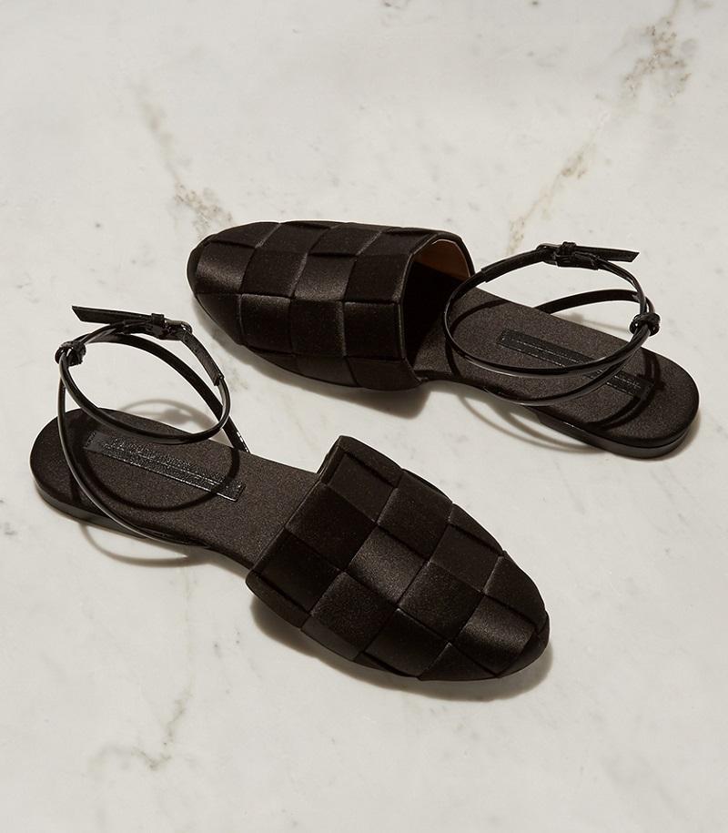 Marco De Vincenzo Woven-satin flat sandals