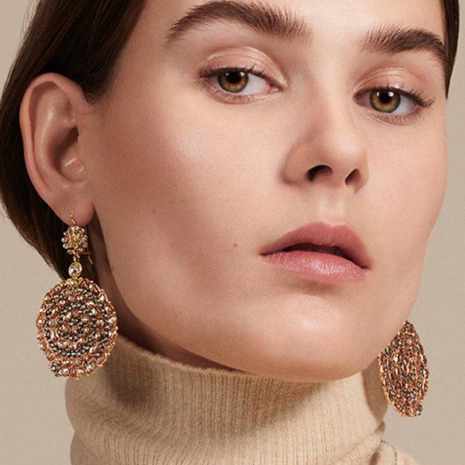 Renee Lewis Mixed-Diamond Snake Earrings
