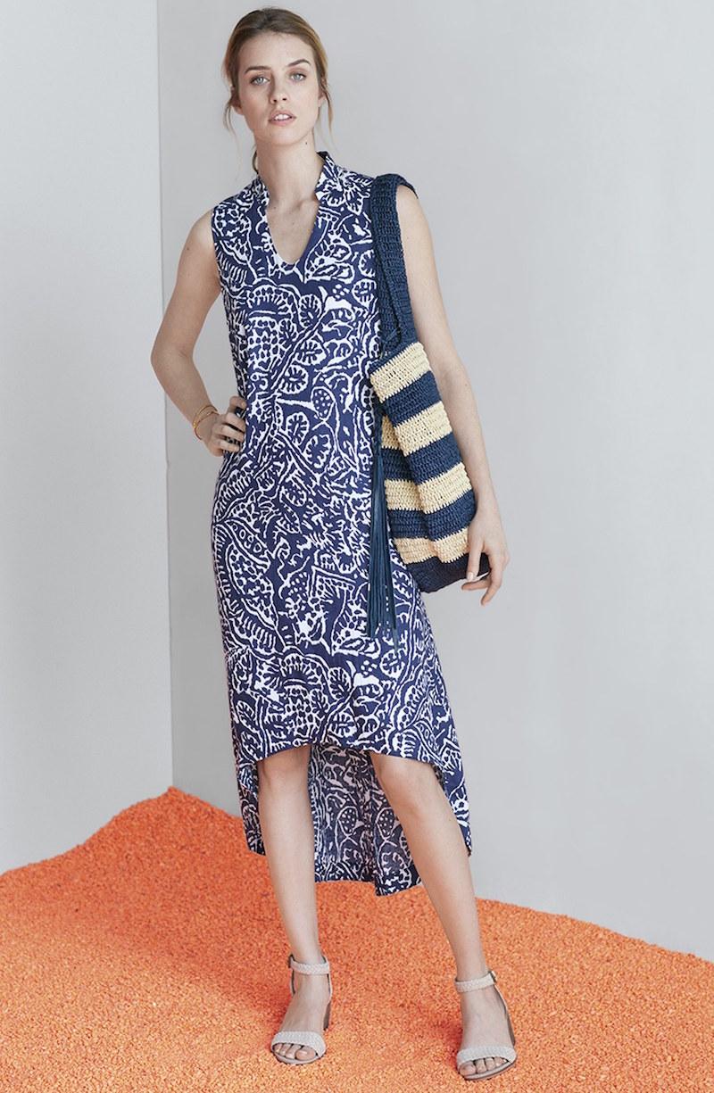 NIC+ZOE Seacoast High/Low Linen Maxi Dress