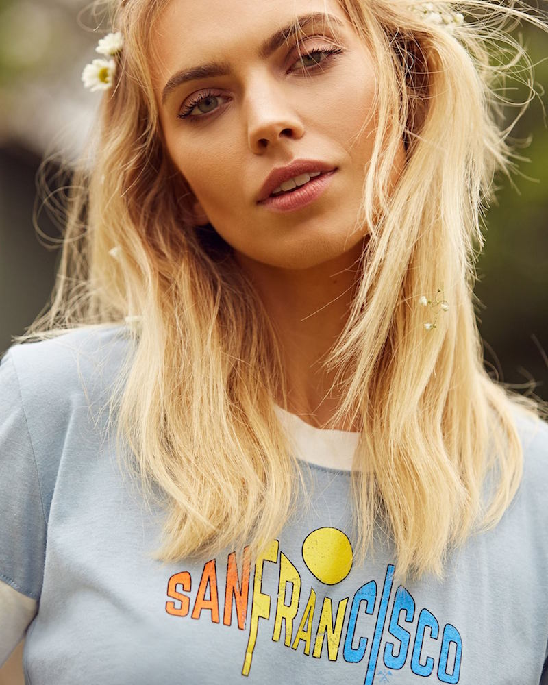 Nasty Gal Exclusive CAMP Collection San Fran Ringer Graphic Tee