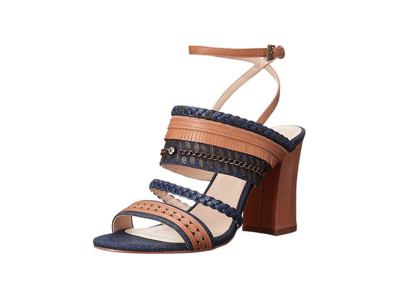 Nine West Baebee Denim Heeled Sandal
