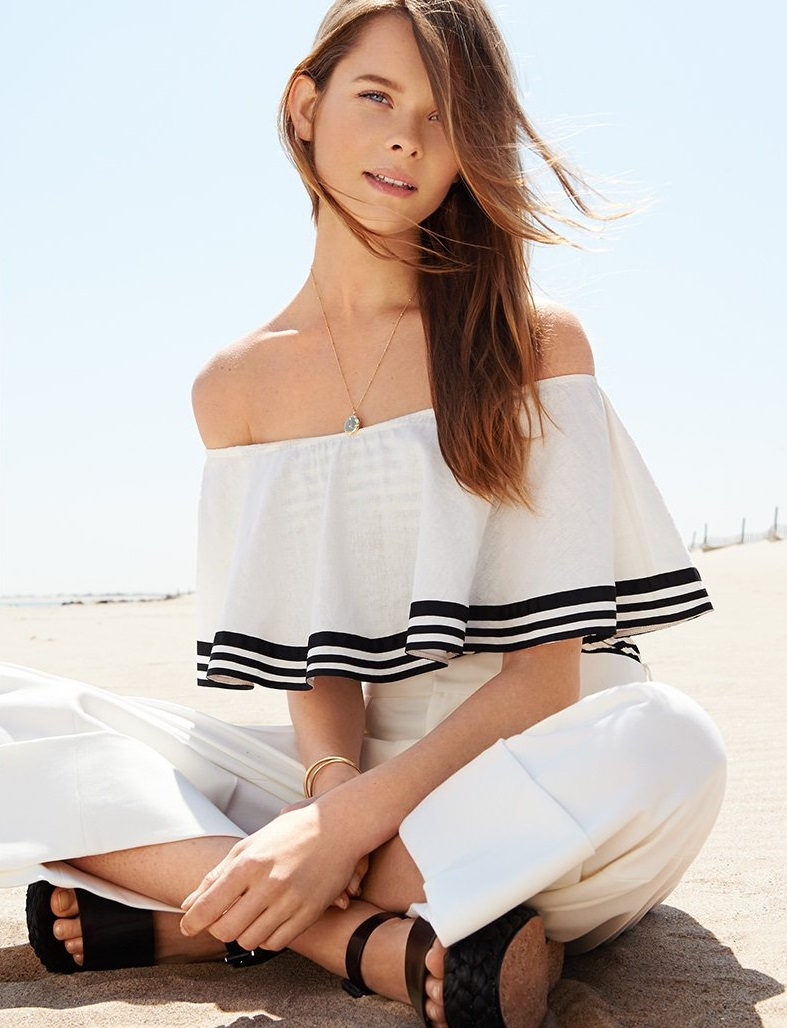 ONE by TM Off Shoulder Bodysuit with Frill