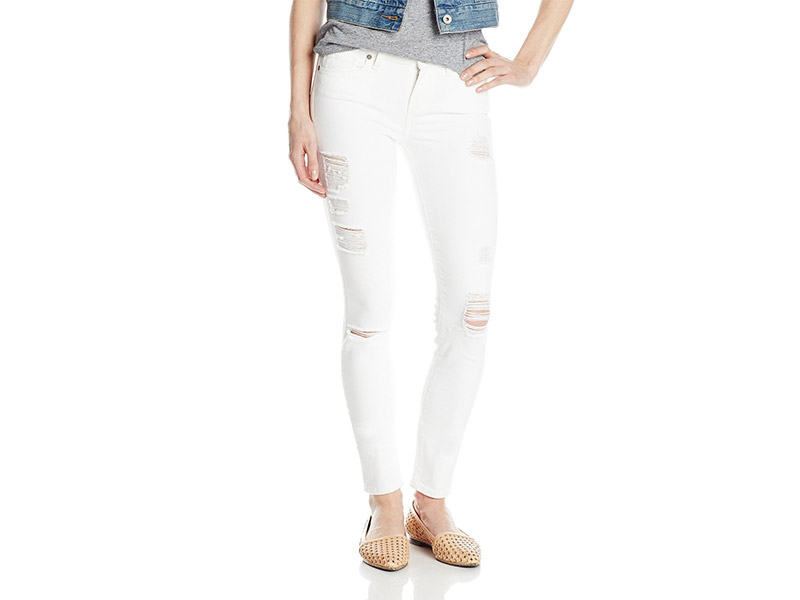 PAIGE Verdugo Ultra Skinny Jean In Optic White Destructed