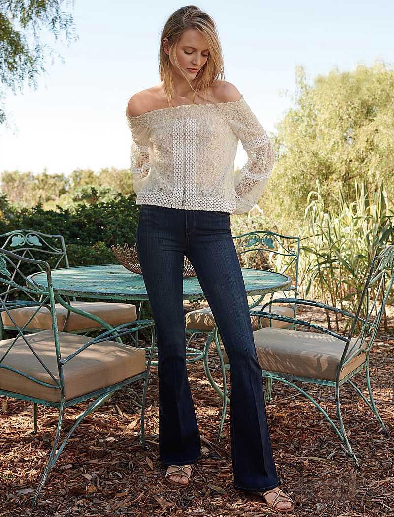 Paige Denim Transcend High-Rise Flared Jeans