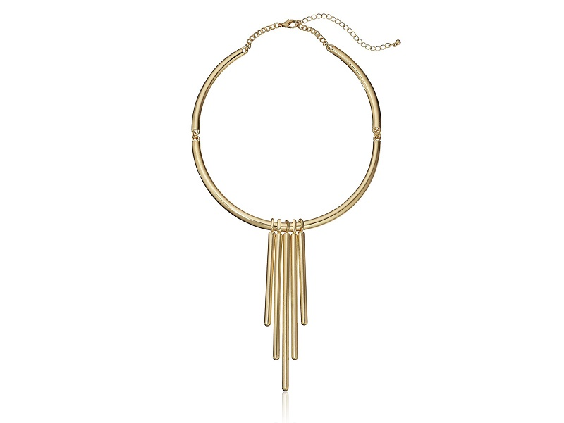 Panacea Shiney Gold Omega Collar Necklace