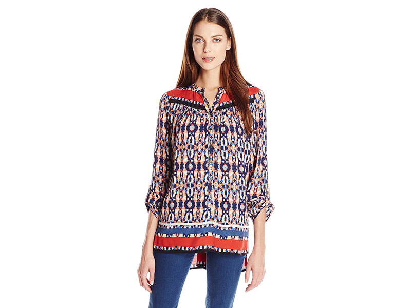 Plenty by Tracy Reese Dappled Medallions Shirt Tunic