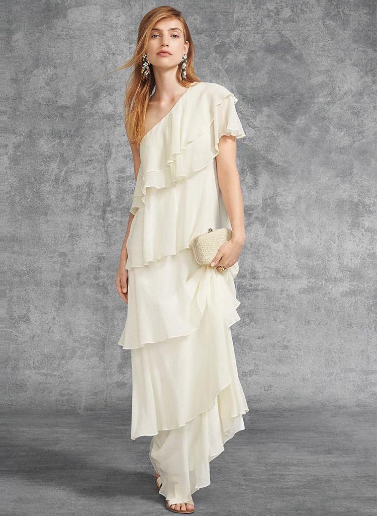 Rachel Zoe Ruffle Maxi Gown