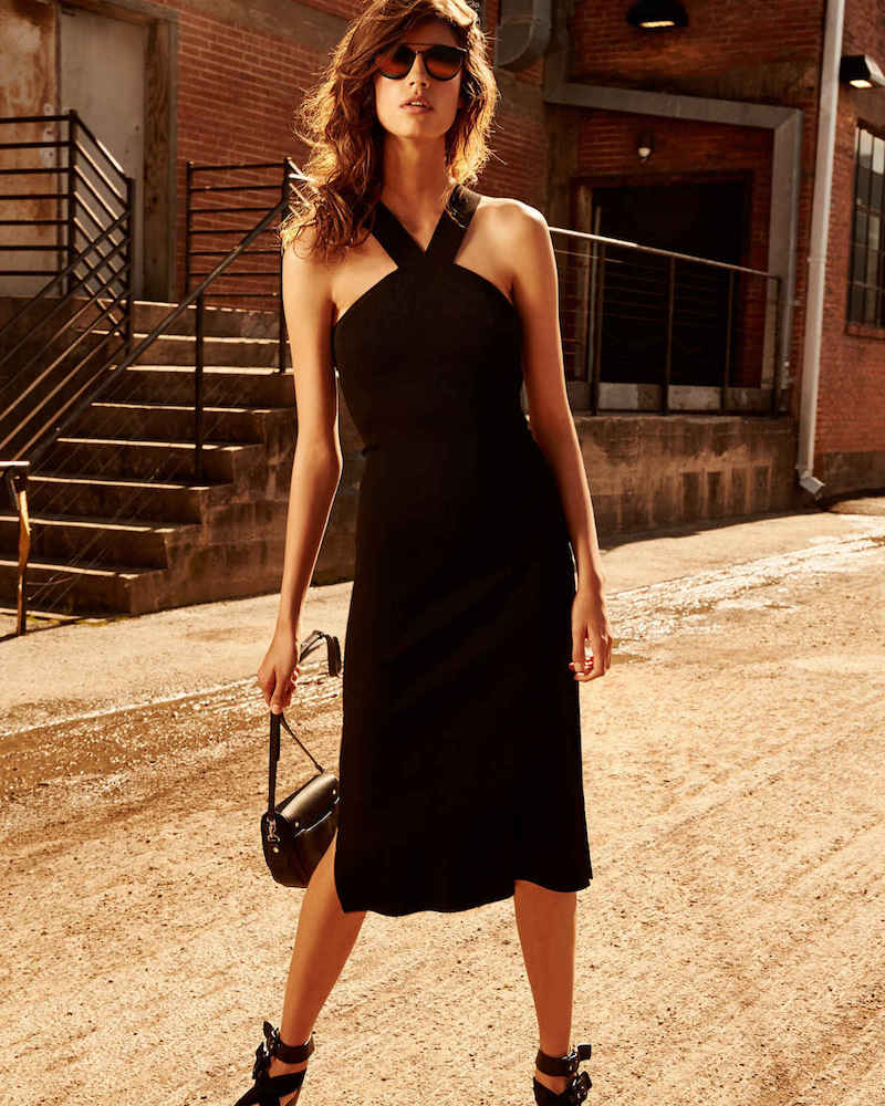 Rag & Bone Rachel Sleeveless Ribbed Midi Dress