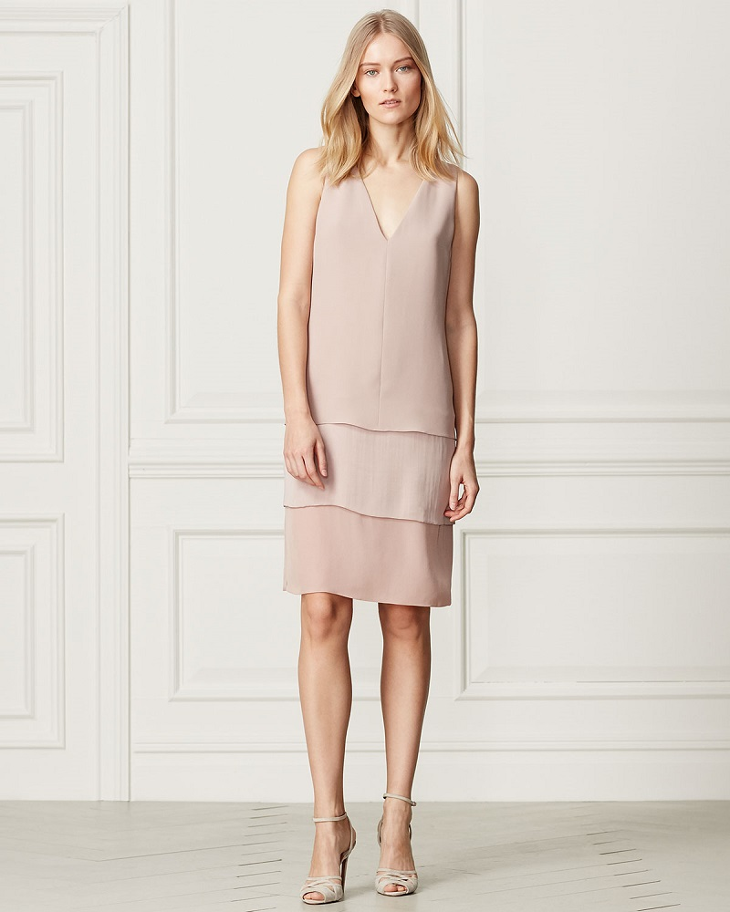 Ralph Lauren Collection Belinda Sleeveless Tiered Dress