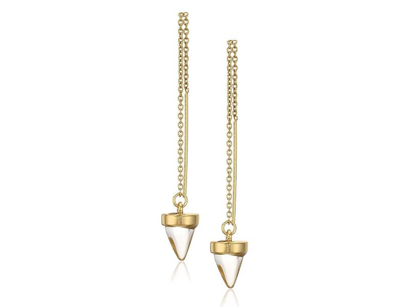 Rebecca Minkoff Acorn Crystal Threader Drop Earrings